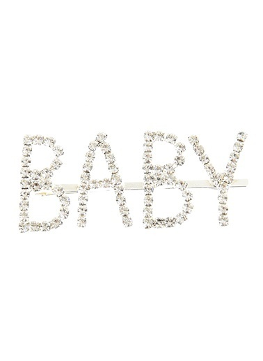 Agenda Taşlı Baby Yazılı Toka Gümüş